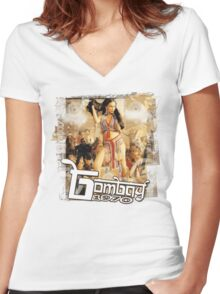 Bollywood Item Girl Women's Fitted V-Neck T-Shirt