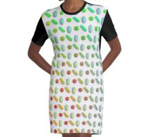 pills - capsules - colors : pharmacy design Graphic T-Shirt Dress
