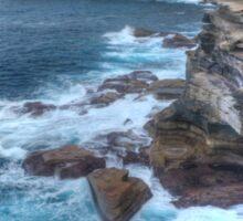 Rugged Australian Coastline At Cape Solander Sticker