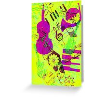 Psychedelic Music  Greeting Card