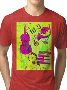 Psychedelic Music  Tri-blend T-Shirt