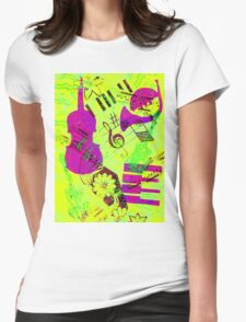 Psychedelic Music  Womens Fitted T-Shirt