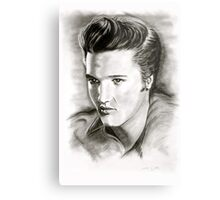 Elvis in black and white Metal Print