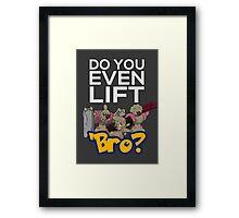 Do You Even Lift Bro - Pokemon - Conkeldurr Family Framed Print