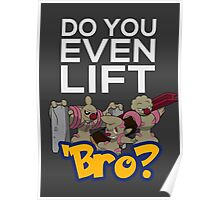 Do You Even Lift Bro - Pokemon - Conkeldurr Family Poster