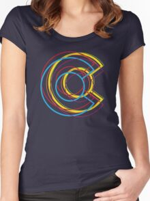 colorado c blur Women's Fitted Scoop T-Shirt