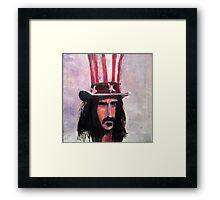 Frank Zappa (Top Hat) Framed Print