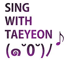 Sing: With Taeyeon Photographic Print