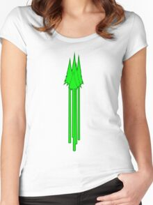Tall Pines Green Women's Fitted Scoop T-Shirt