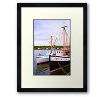 Rafted Together At The Seaport Framed Print