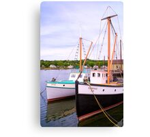 Rafted Together At The Seaport Canvas Print