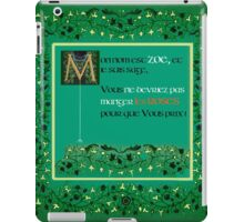 My Name is Zoe - French Version iPad Case/Skin