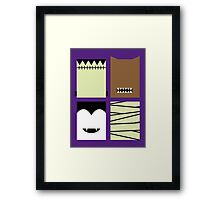 Minimal Monster Mash Framed Print