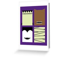 Minimal Monster Mash Greeting Card