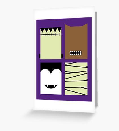 Minimal Monster Mash Greeting Card
