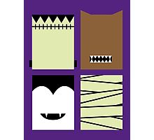 Minimal Monster Mash Photographic Print