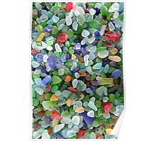 The Intense Colors of Sea Glass Poster