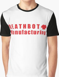 Deathbot Mfg Red Logo Graphic T-Shirt