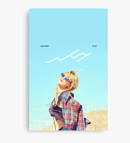 Girls' Generation (SNSD) Taeyeon - Why Canvas Print