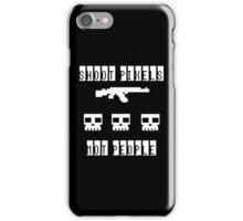 Shoot Pixels Not People (White) iPhone Case/Skin