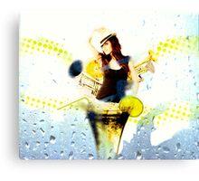 Minka Kelly - Cocktail Canvas Print