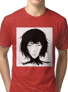 Black Hair & Neck - Female Tri-blend T-Shirt