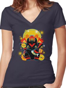 Lucky Dragon Women's Fitted V-Neck T-Shirt