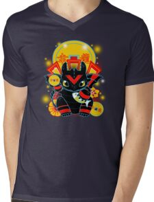 Lucky Dragon Mens V-Neck T-Shirt