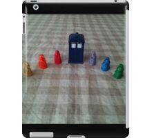TARDIS and rainbow Daleks iPad Case/Skin