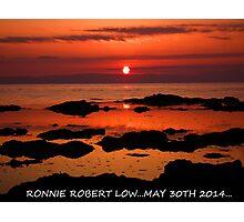 sunset over arran,scotland Photographic Print