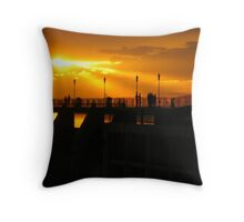 Sunset on the Dam Throw Pillow