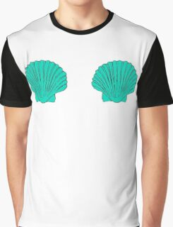 Mermaid Shell Bra Graphic T-Shirt