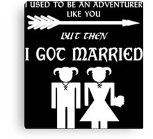 Skyrim Marriage (White) Canvas Print