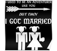 Skyrim Marriage (White) Poster