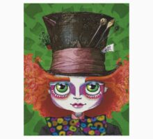 "Johnny Depp as Mad Hatter in Tim Burton's ""Alice in Wonderland"" Kids Tee"