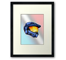 Stylised Spartan Blue Framed Print