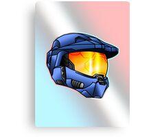 Stylised Spartan Blue Canvas Print