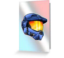 Stylised Spartan Blue Greeting Card