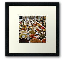 Spice Market, Jerusalem Framed Print