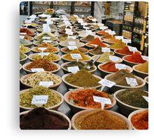 Spice Market, Jerusalem Canvas Print