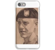 Portrait of a soldier iPhone Case/Skin