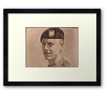 Portrait of a soldier Framed Print