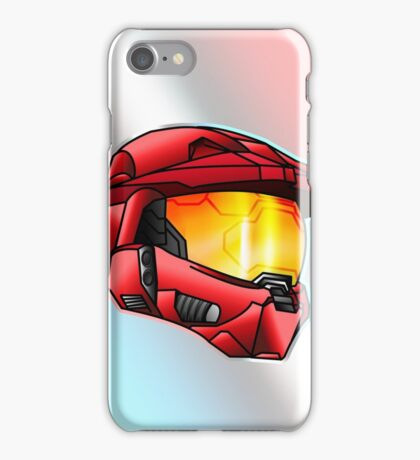 Stylised Spartan Red iPhone Case/Skin