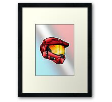Stylised Spartan Red Framed Print