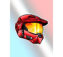 Stylised Spartan Red Photographic Print