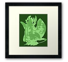Shadow Dragon Framed Print