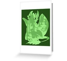 Shadow Dragon Greeting Card