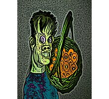 Zombie with a Fruit Basket Photographic Print