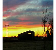 Sunset on the Farm Photographic Print