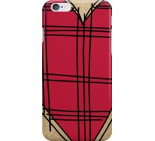 Heart on craft paper iPhone Case/Skin